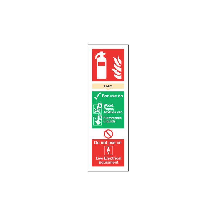 Sitesafe Ppe Foam Extinguisher 300X100Mm Rg: Rigid PVC and Self-Adhesive. #ShoppingUK