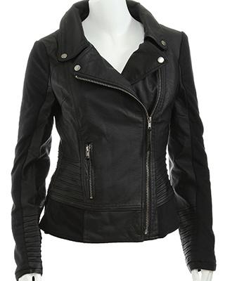 Rue 21 knit sleeve biker jacket $32.99