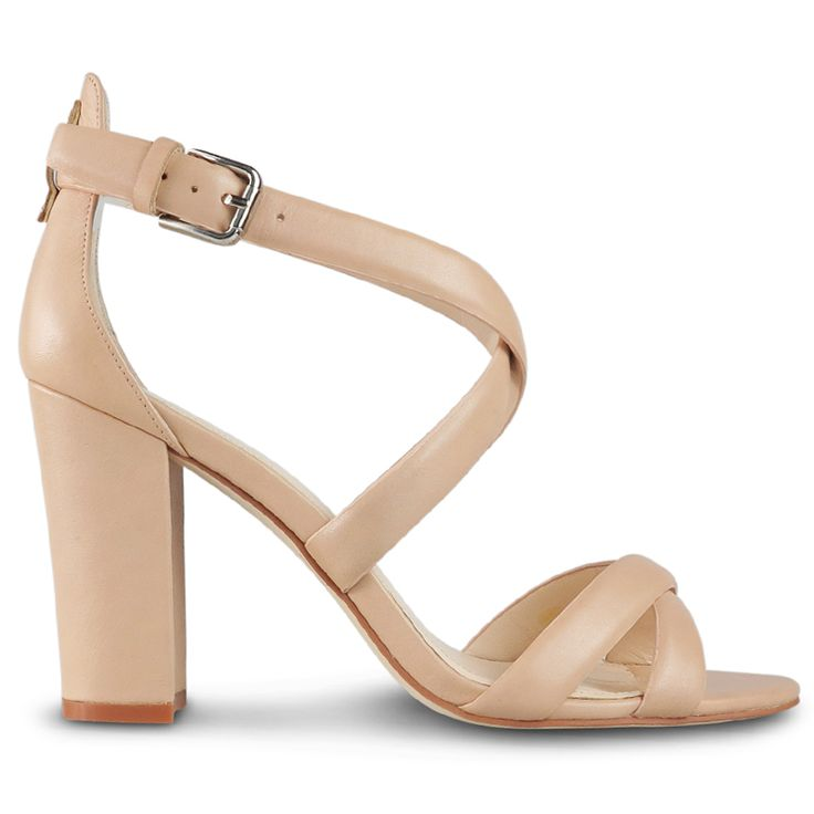 This elegant sandal features a 8.5cm* block heel, and is crafted from stunning nude leather. This classic heel is a must-have item for Summer, dress Rusti up or down with ease!  Leather Upper Leather Lining Padded Footbed Spanish Resin Sole  *Measu