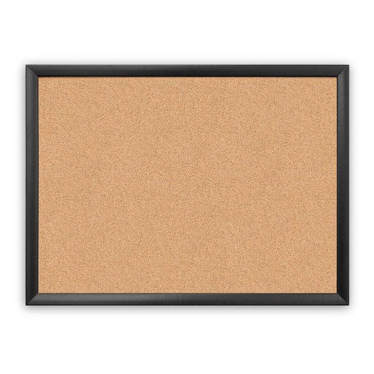 U Brands Cork Black Wood Bulletin Board - 026U00-01