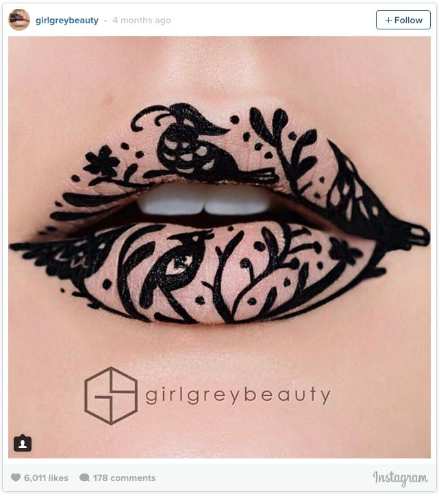 Literally Just 17 Ridiculously Gorgeous Lip Art Looks You'll Want To Copy