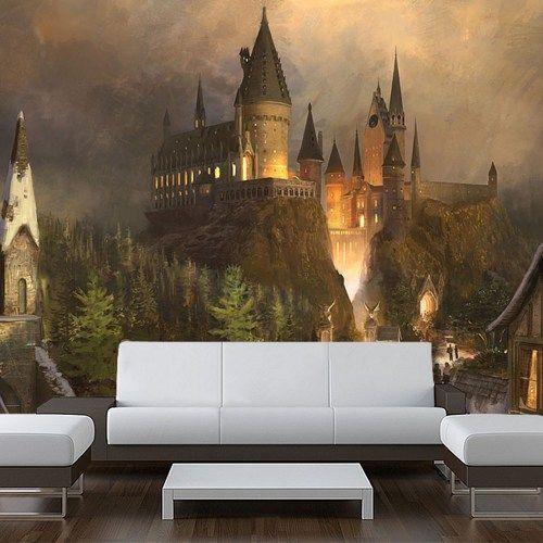 Wall STICKER MURAL harry potter world Hogwarts decole poster 108x126   pulaton - Print on ArtFire