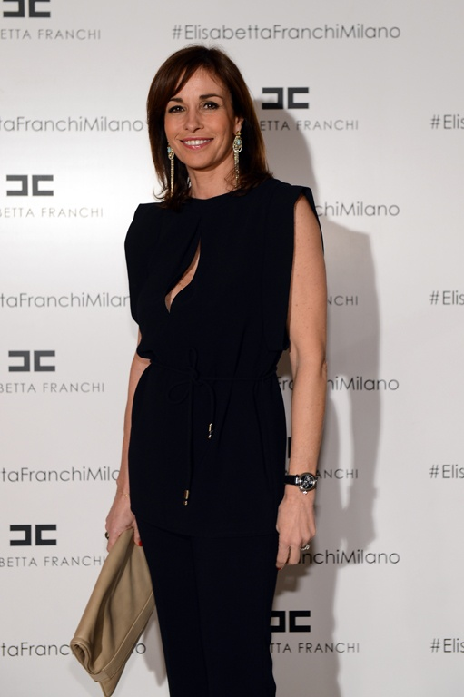 Cristina Parodi in our Spring '13 smart 24/7 tailoring pantsuit at the Fall 2013 Collection Preview.    Get The look > http://j.mp/Yznppz