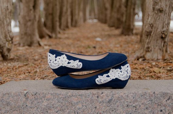 Low Navy Wedges, Low Blue Wedges, Blue Wedding Shoe,s Low, Heels, Navy Heels by walkin on air