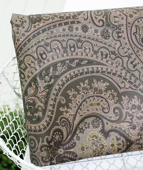 Twill Cotton Fabric Paisley By The Yard by FabricBonita on Etsy