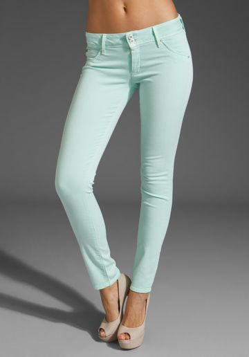 mint green skinny jeans