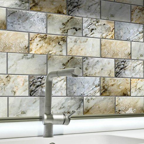 25 best ideas about adhesive backsplash on pinterest for Self adhesive subway tile backsplash
