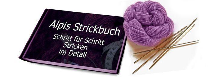 Alpis Strickbuch  eine feines Online-Strick-Lehrbuch zum Nachschlagen