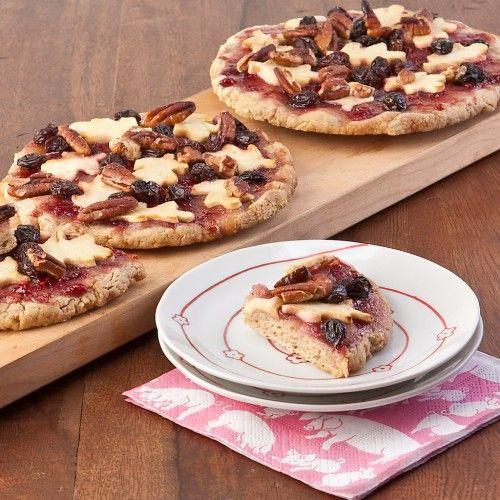 Rum Raisin Apple Pizza Pie, Gluten and Dairy Free!
