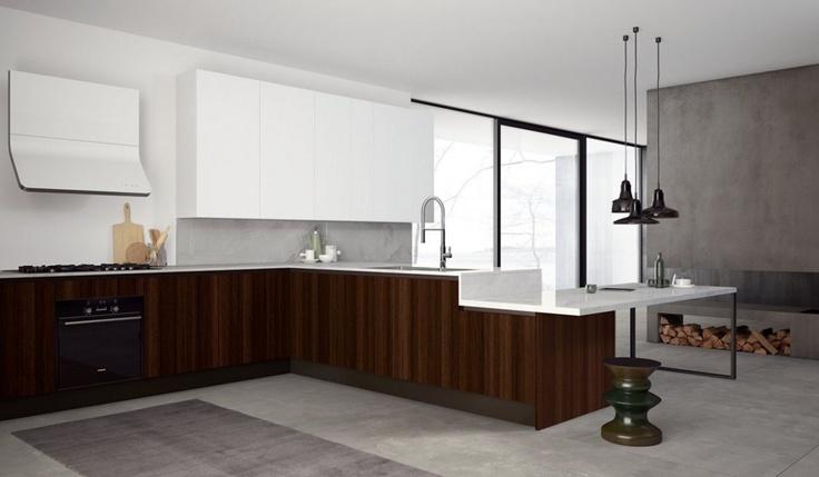 doimo cucine in white & wood