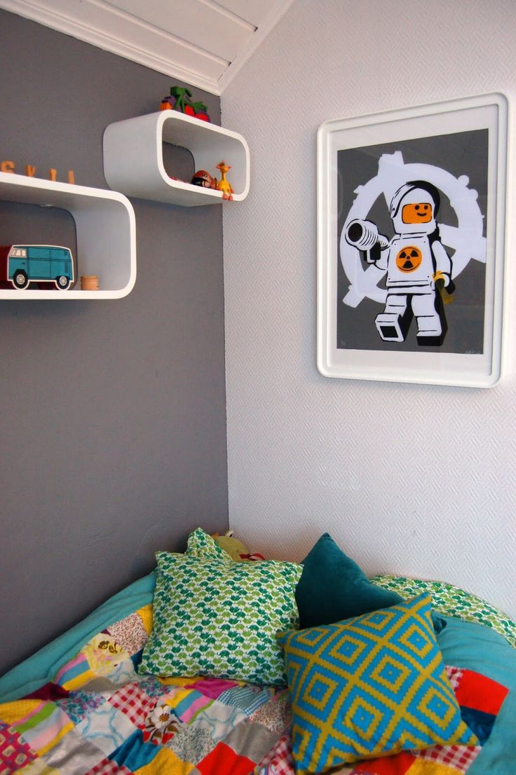 Our Home, http://ellevillamalla.blogspot.no, kids room, art.