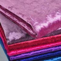50x145cm Thick Ice Gold Velvet Fabric For Sofa, Luxury Soft Purple Velvet Textil For Curtain, Clothing Fabric Tela Para Mueble