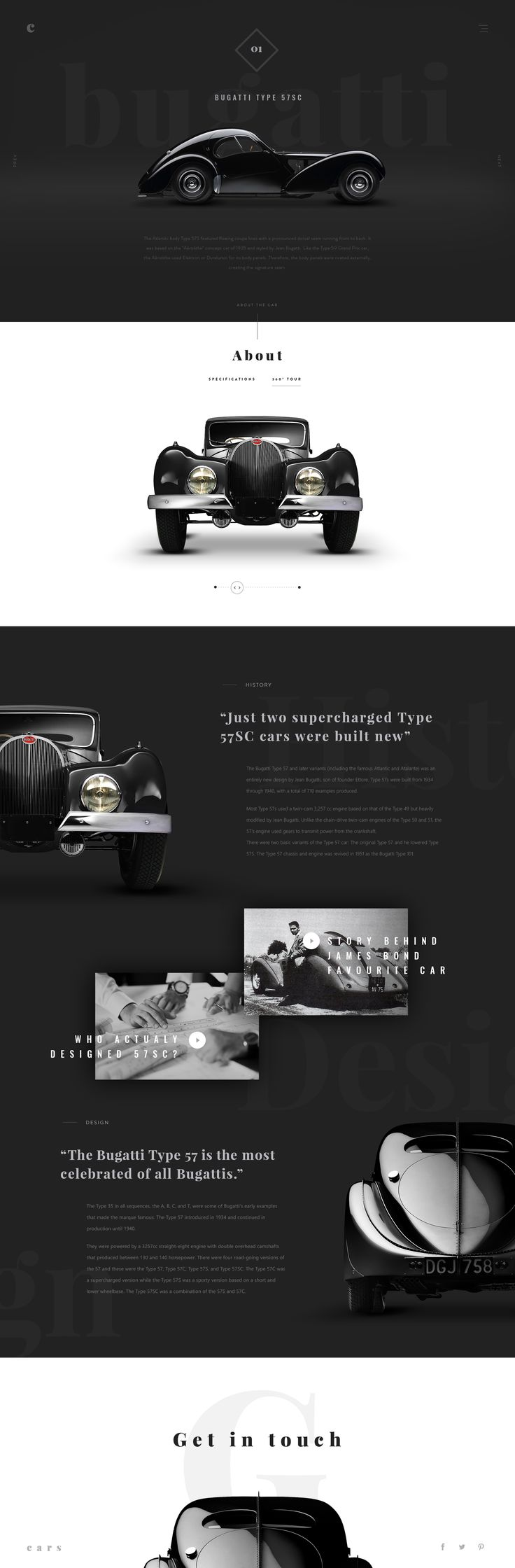 retro car website design