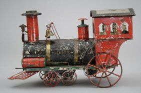 """The """"Giant"""" Locomotive - Clockwork : c1885 only 4 known examples of this toy."""