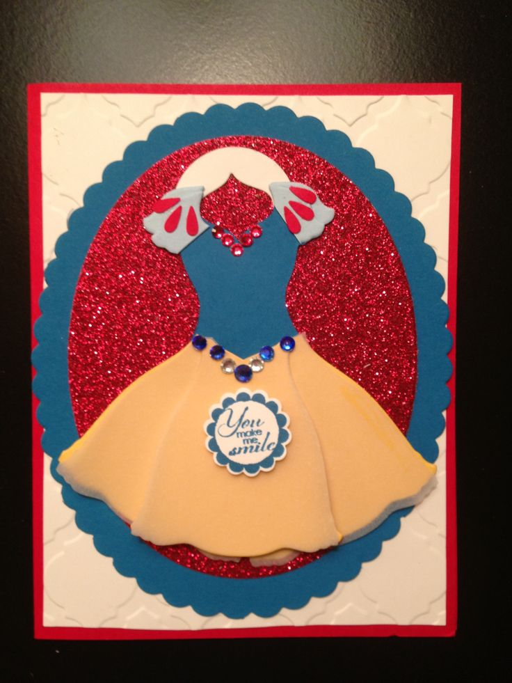 Snow White card using All Dressed Up Framelits and Oval Framelits
