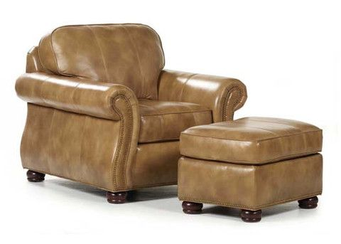 Beautiful Barrington Leather Chair U0026 Ottoman By Randall Allan