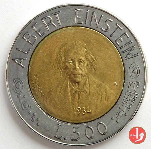 500 Lire S.Marino La scienza per l'uomo Albert Einstein
