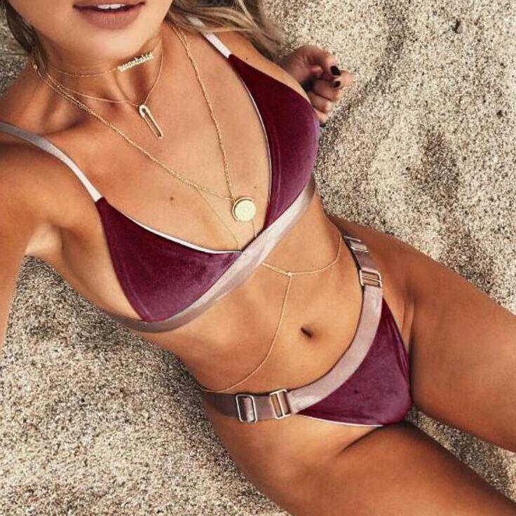 Майо де бейн femme бикини 2017 женщин купальники сексуальный бархат купальник женщин bikinis сексуальное купальный костюм женщин biquini бикини установить купить на AliExpress