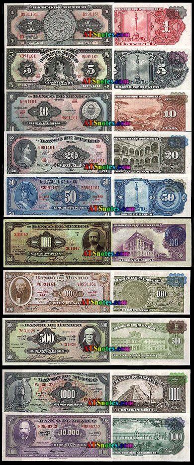 tengo la suerte de tener un billete de un pesos y otro de cinco pesos conoci y pasaron por mis manos alguna vez todos esos billetes cuando nuestra moneda si valia y decia la leyenda en el billete pagase al portador ahora ya ni eso dice en el billete lo cual significa que cada vez esta mas devaluada nuestra moneda