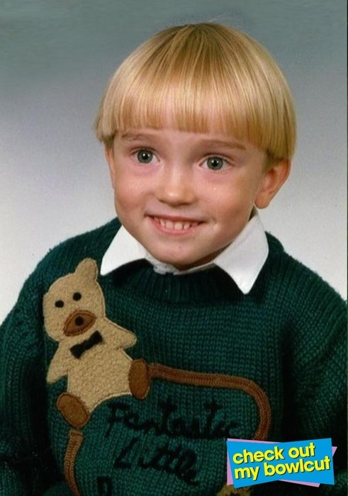 The infamous 90s bowl cut...poor kid. Was just watching clarissa explains it all. Poor Sam. Poor ...