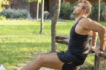30 Day Tricep Dips Challenge Fitness Workout Hero Image