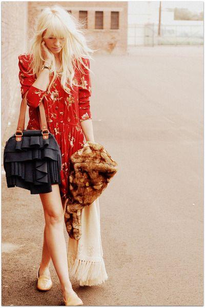Orange-vintage-dress-beige-vintage-cape-cardigan_400