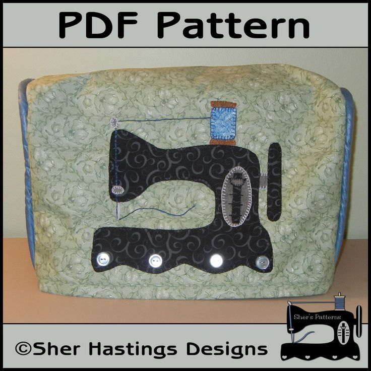 PDF Pattern for Antique Sewing Machine Cover. #pdf #pattern