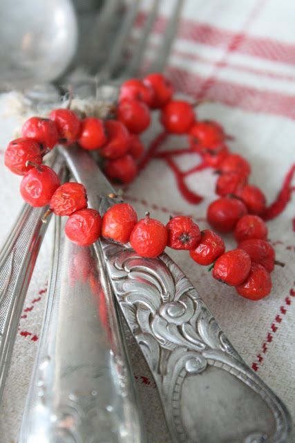 VIBEKE DESIGN- -dried rowan berries heart