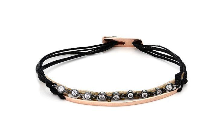Βραχιόλι με λευκά cz από ροζ επιχρυσωμένο ασήμι 925 Bracelet with white cz made by rose gold-plated silver 925. Prιce : 105€