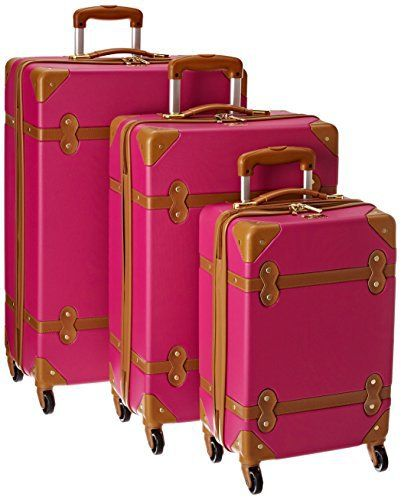 New Trending Luggage: Diane Von Furstenberg Saluti Three Piece Hardside Set, Beet/Vachetta, One Size. Diane Von Furstenberg Saluti Three Piece Hardside Set, Beet/Vachetta, One Size  Special Offer: $299.99  355 Reviews Travel in style with this beautiful hardside fashion setMolded ABS/PC composite hardside shellSophisticated vintage inspired trunk design4 wheel spinner system for easy...