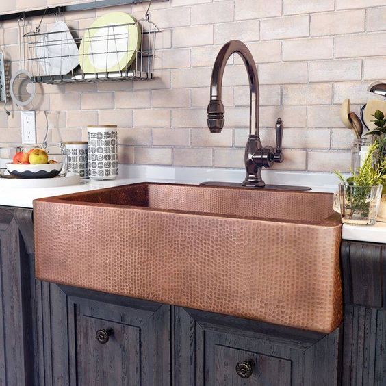 The Adams copper farmhouse sink. Perfect for any kitchen. http://www.tapforyou.co.uk/waterfall-taps/waterfall-single-handle-chrome-centerset-led-bathroom-sink-tap-t0802f-