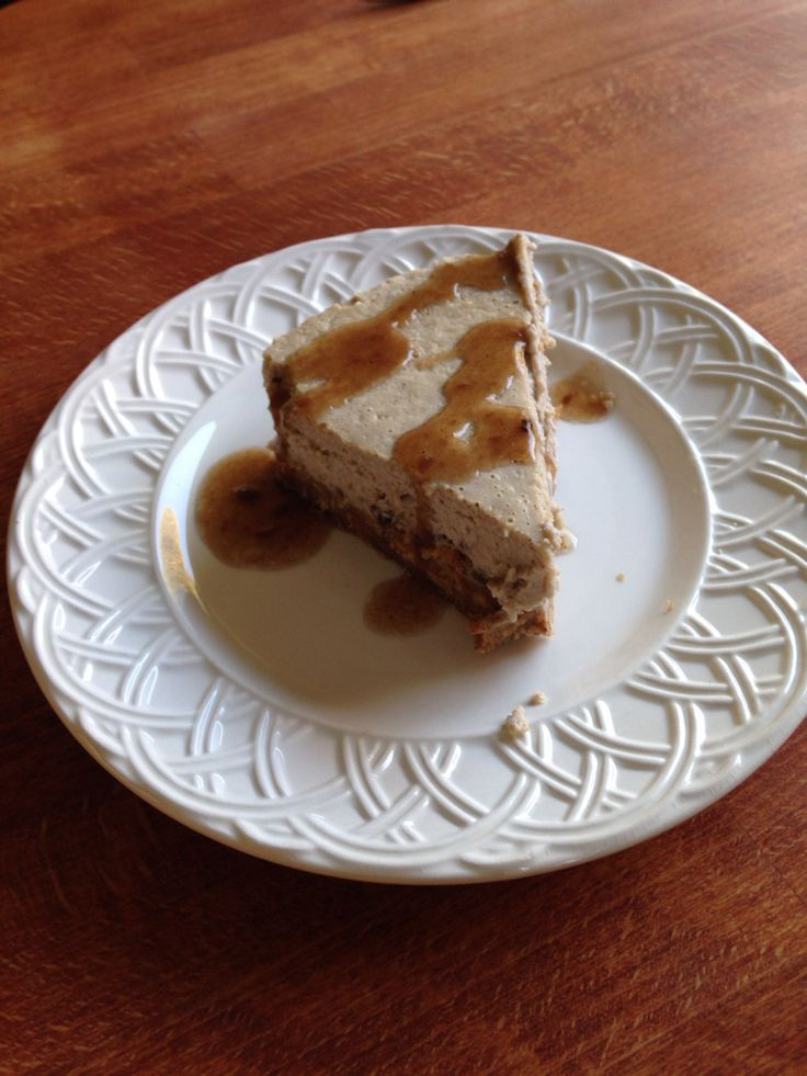 Chestnut cheesecake! Not good at decorating I know! The sauce is rum based and kicks asses!