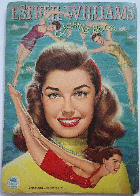 Esther Williams Paper Doll Coloring Book EBay