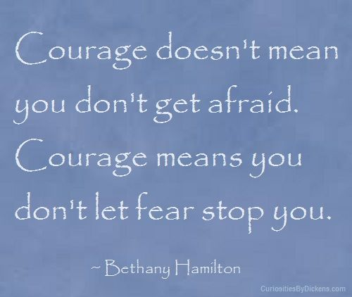 Courage Doesn T Mean You Don T Get Afraid Courage Means