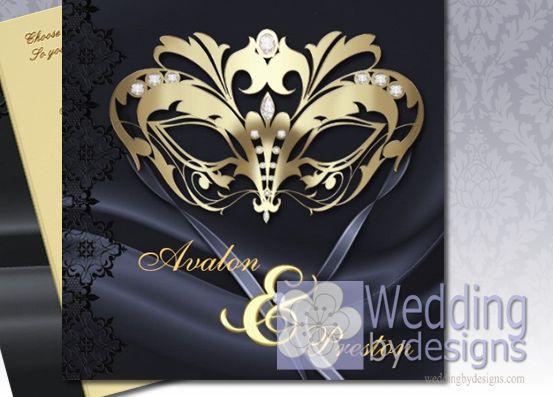 25 Best Ideas About Masquerade Wedding Invitations On Pinterest Masquerade