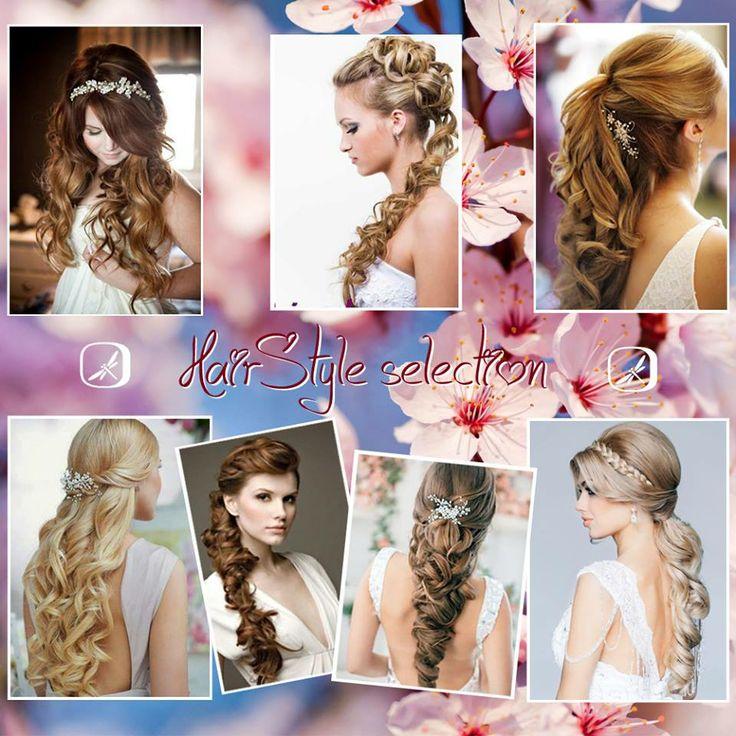Selezione di #acconciature, che lasciano i #capelli sciolti e liberi nella loro lunghezza, mantenendo #eleganza ed originalità. Per chi vuole osare, senza eccessi! #AnnaTumas #hairstyle #selection