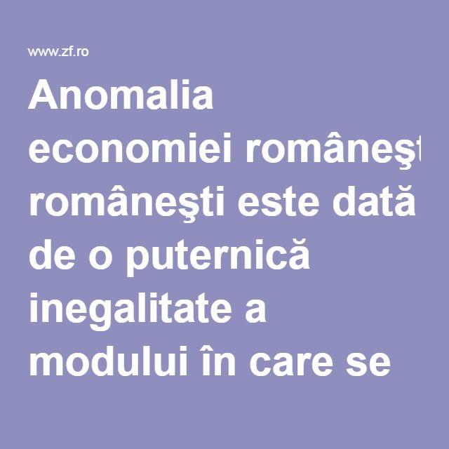 Anomalia economiei româneşti este dată de o puternică inegalitate a modului în care se repartizează cifra de afaceri a companiilor pe fiecare piaţă, întrucât foarte puţine companii dintr-o industrie vând foarte mult, iar foarte multe companii vând foarte puţin, arată rezultatele unei cercetări realizate de prof. dr. Cezar Mereuţă.
