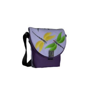 Colorful dragonfly courier bags