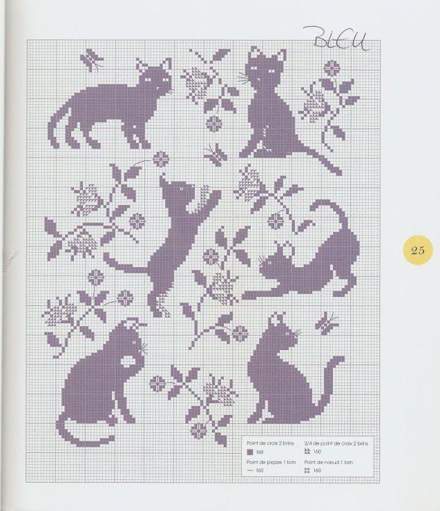 Gallery.ru / Фото #13 - Les chats au point de croix - NINULYKA