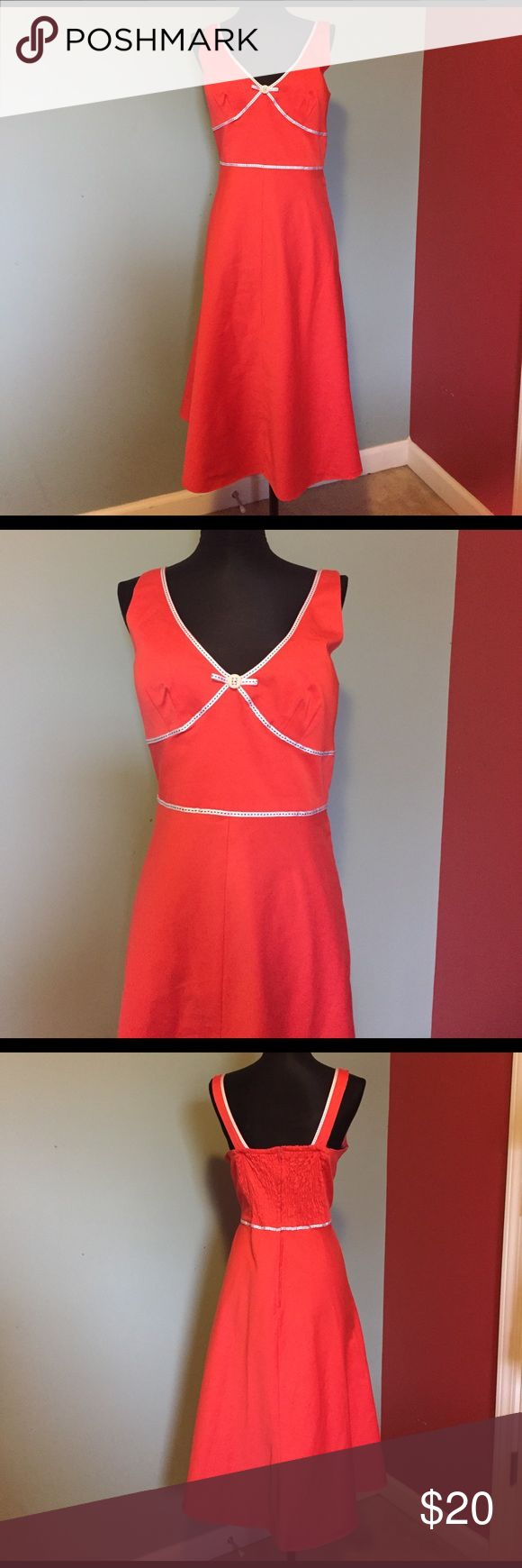 """R & K coral sundress size 10. R & K coral sundress size 10.  Two ways of use in the back. See pictures. 42"""" long, 19"""" bust. r & k Dresses"""