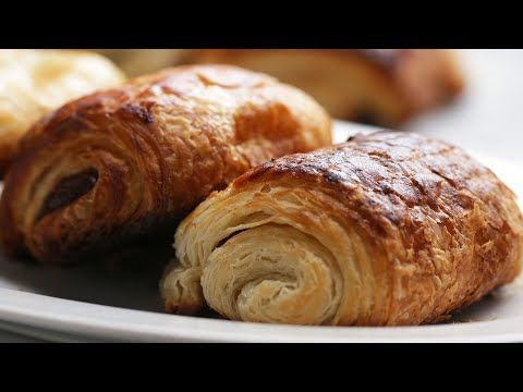 Homemade Chocolate Croissants - YouTube