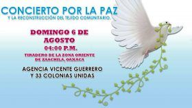 "Realizarán ""Concierto por la Paz"" enel basurero municipal de Zaachila"