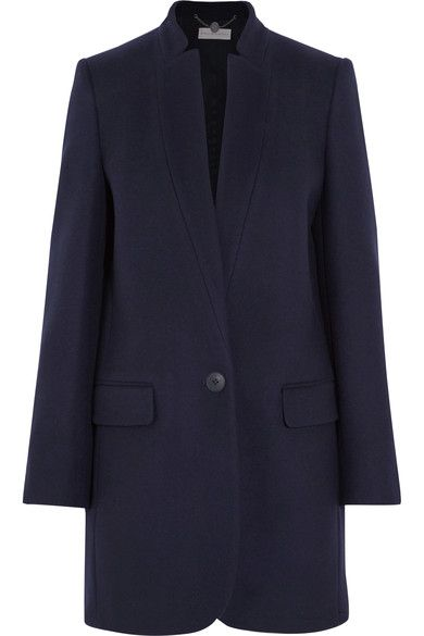 Part of the label's permanent collection, Stella McCartney's 'Bryce' coat will never go out of style. This wool-blend piece is cut in a straight silhouette that's fitted at the shoulders and has a neat inverted collar and lapels - design signatures of the label. It's fully lined in satin-twill for the smoothest finish.