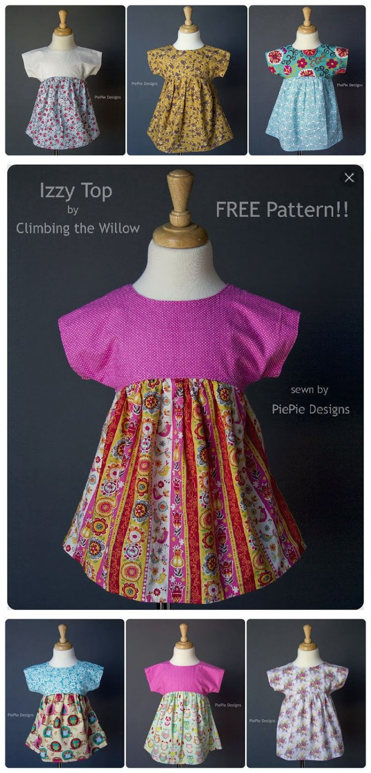 FREE Girl's Shirt Pattern: The Izzy Top