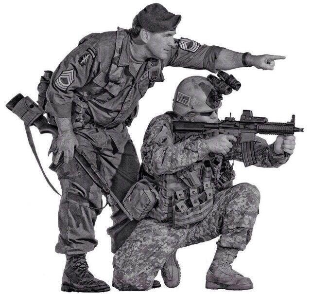 Vietnam era Green Beret / Modern Green Beret. US Army Special Forces