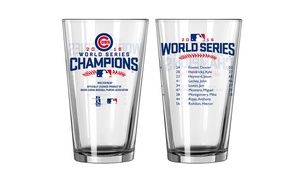 Groupon - Chicago Cubs 2016 World Series Champions Pint Glasses (2-Pack). Groupon deal price: $19.99