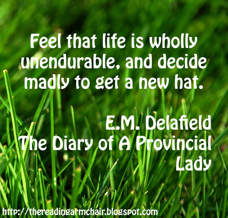 Book Quote from The Diary of A Provincial Lady by E.M. Delafield