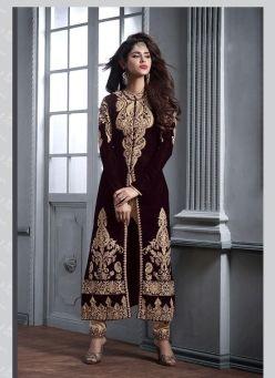 Velvet Salwar Kameez - Buy Velvet Salwar Kameez Online at Best Price