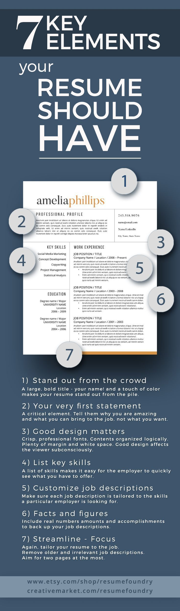 7 Key Elements your resume should have - does yours?