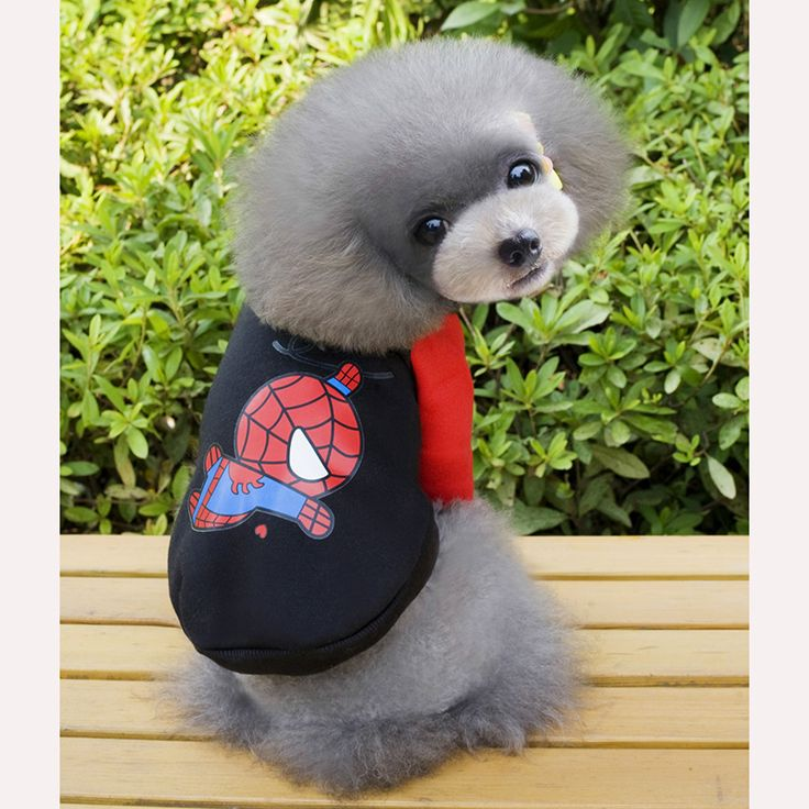 Factory price Cute Small Dog Clothes Hero Dog Coat for Beagl,poodle,Cocker,Dachshund,Pomeranian,Yorkshire
